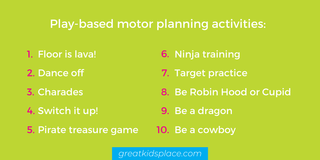 10 play-based motor planning activities - Great Kids Place Rockaway NJ
